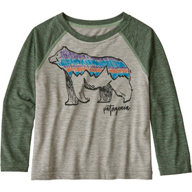 Patagonia Capilene Cool Daily Crew Kids illustrated fitz bear/drifter grey x-dye